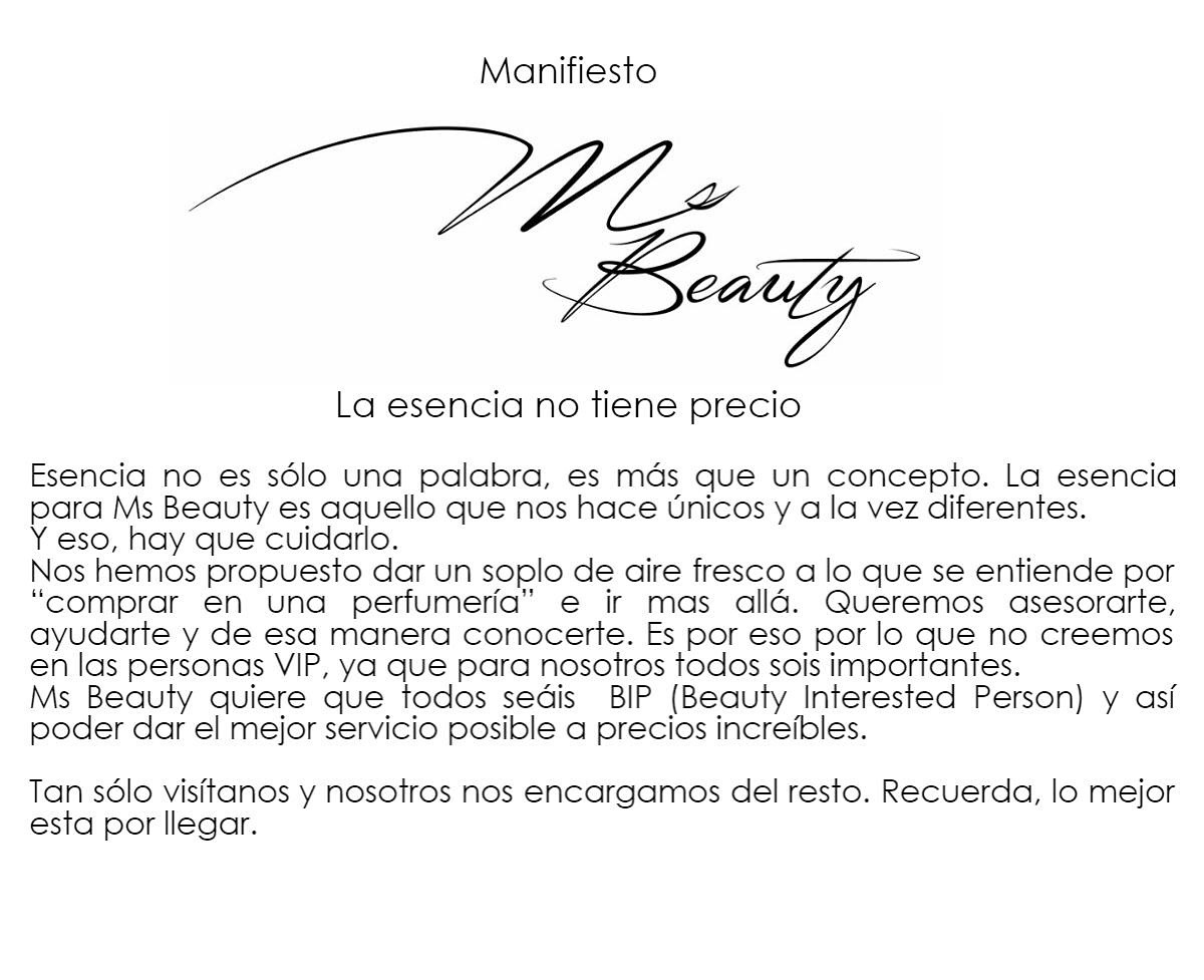 Manifiesto Ms Beauty